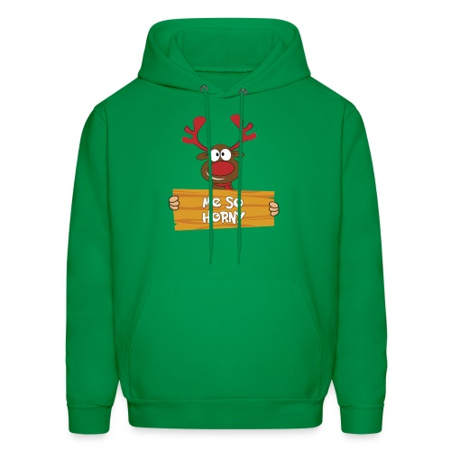 Red Christmas Horny Reindeer 6 - Men's Hoodie