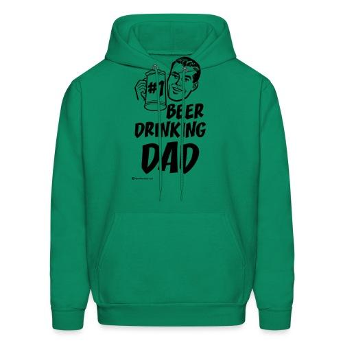 #1 Beer Drinking Dad - Men's Hoodie
