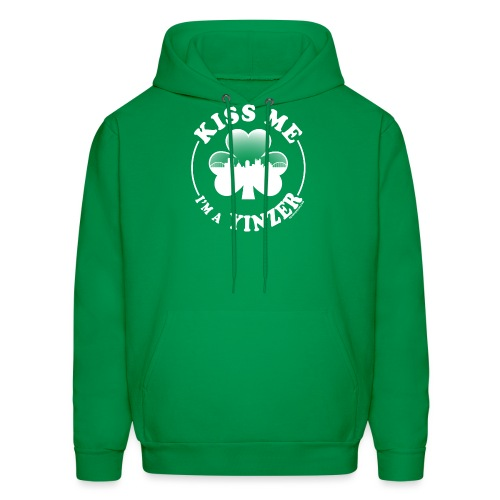 Kiss Me I'm a Yinzer (White on Green) - Men's Hoodie