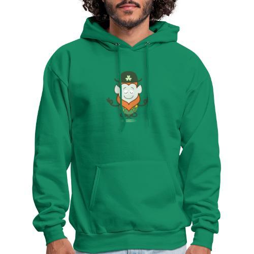 St Patrick's Day Leprechaun meditating - Men's Hoodie