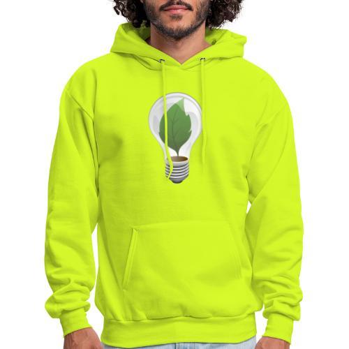 Clean Energy Green Leaf Illustration - Men's Hoodie