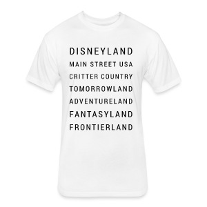 Minimalist Disneyland - Fitted Cotton/Poly T-Shirt by Next Level