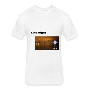 Late Night - Fitted Cotton/Poly T-Shirt by Next Level