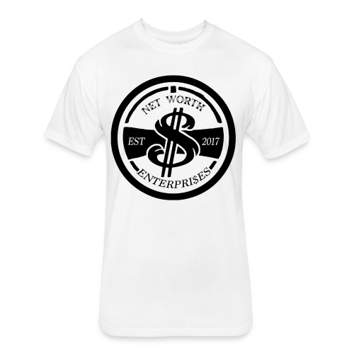 Net Worth Emblem - Fitted Cotton/Poly T-Shirt by Next Level