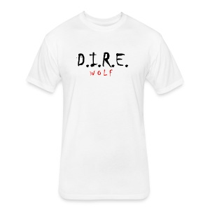 D.I.R.E. W O L F Apparel Exclusive - Fitted Cotton/Poly T-Shirt by Next Level