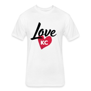 LoveKC Logo Final color - Fitted Cotton/Poly T-Shirt by Next Level