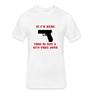 GunFreeZone - Fitted Cotton/Poly T-Shirt by Next Level