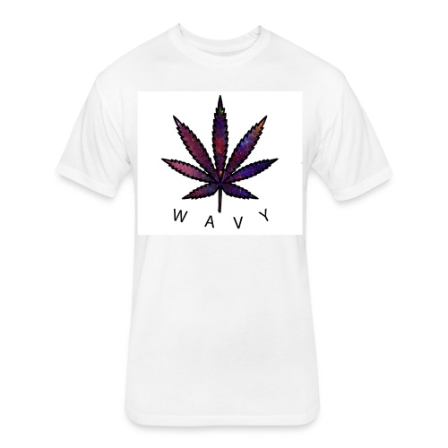 Wavy - Fitted Cotton/Poly T-Shirt by Next Level