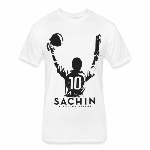 SACHIN- A billion dreams - Fitted Cotton/Poly T-Shirt by Next Level