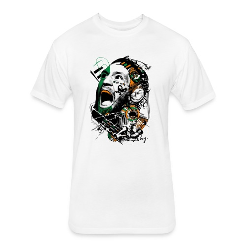 Conor McGregor Fury - Fitted Cotton/Poly T-Shirt by Next Level