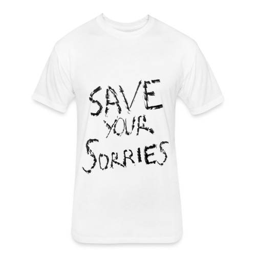 Save Your Sorries - GLAAD - Fitted Cotton/Poly T-Shirt by Next Level