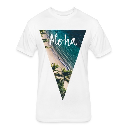 Aloha Pyramid - Fitted Cotton/Poly T-Shirt by Next Level