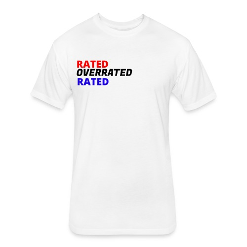 Rated Overrated T-Shirt - Fitted Cotton/Poly T-Shirt by Next Level