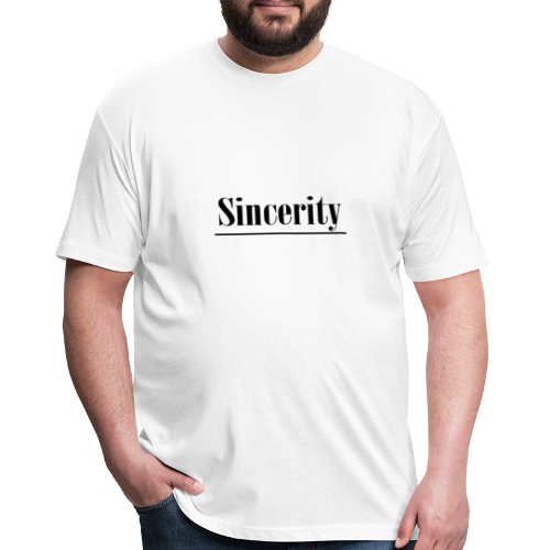 Sincerity - Fitted Cotton/Poly T-Shirt by Next Level
