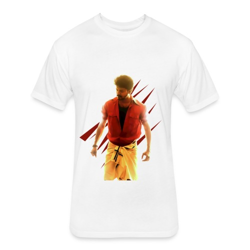 Mersal Printed T Shirt - Fitted Cotton/Poly T-Shirt by Next Level