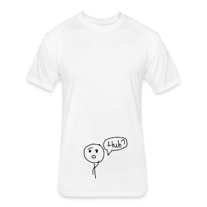Confused - Fitted Cotton/Poly T-Shirt by Next Level