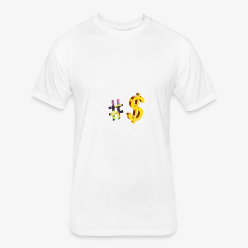 Dollar sign - Fitted Cotton/Poly T-Shirt by Next Level