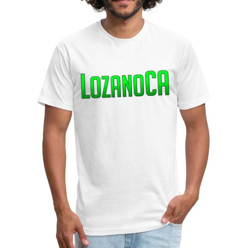 LozanoCA White - Fitted Cotton/Poly T-Shirt by Next Level