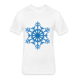 http-images-clipartpanda-com-snowflake-clipart-tra - Fitted Cotton/Poly T-Shirt by Next Level