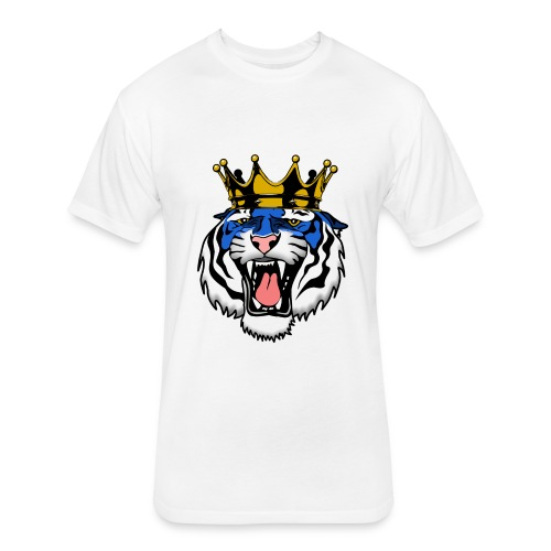 Jackson State Tiger Crown - Fitted Cotton/Poly T-Shirt by Next Level