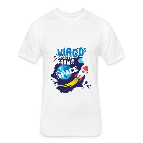Funny Awesome Virgo`s Beauty come from Space - Fitted Cotton/Poly T-Shirt by Next Level