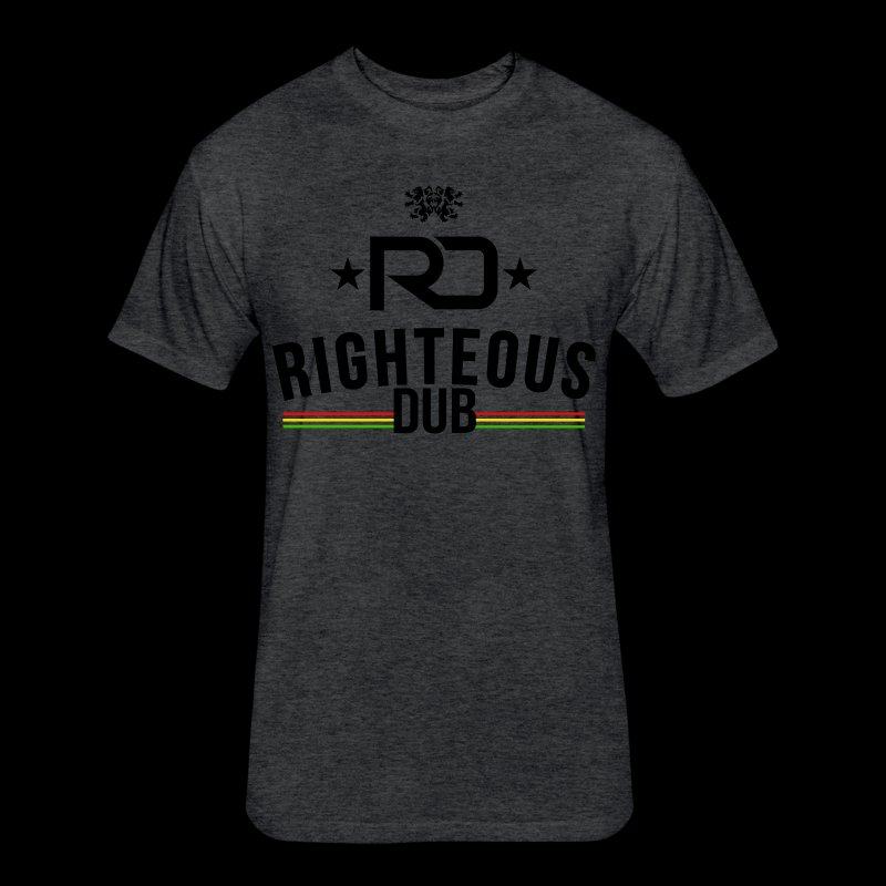 Righteous Dub Logo - Fitted Cotton/Poly T-Shirt by Next Level