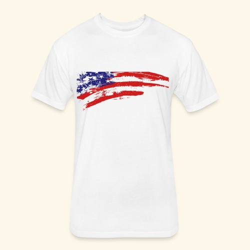 American flag shirt - Fitted Cotton/Poly T-Shirt by Next Level