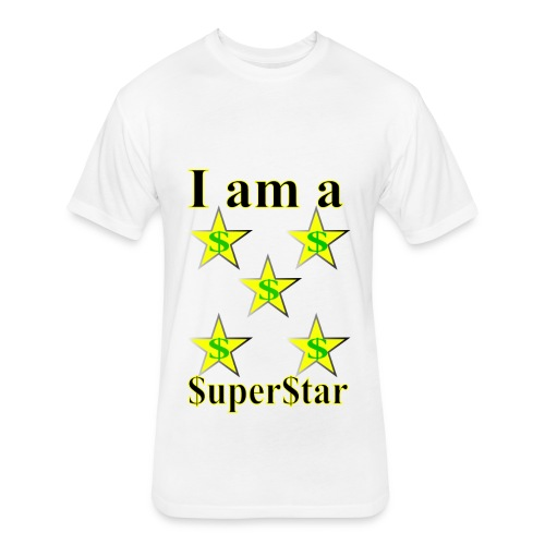 I am a SuperStar all collections - Fitted Cotton/Poly T-Shirt by Next Level