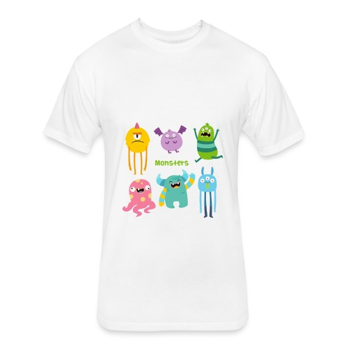The monsters full colour - Fitted Cotton/Poly T-Shirt by Next Level