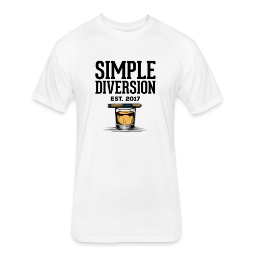 SD Text Logo - Fitted Cotton/Poly T-Shirt by Next Level