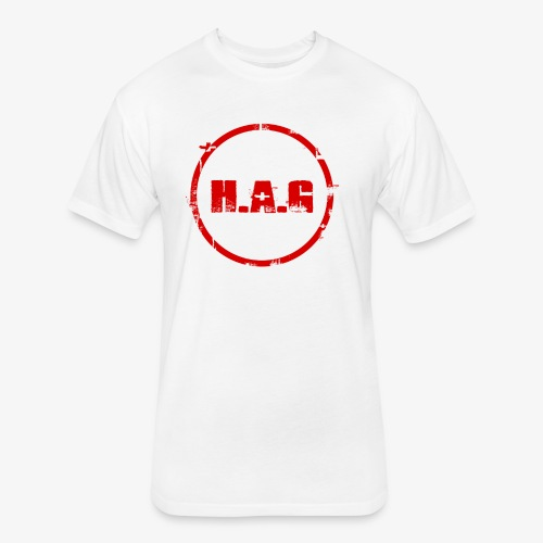 H.A.G Hustle Gear - Fitted Cotton/Poly T-Shirt by Next Level