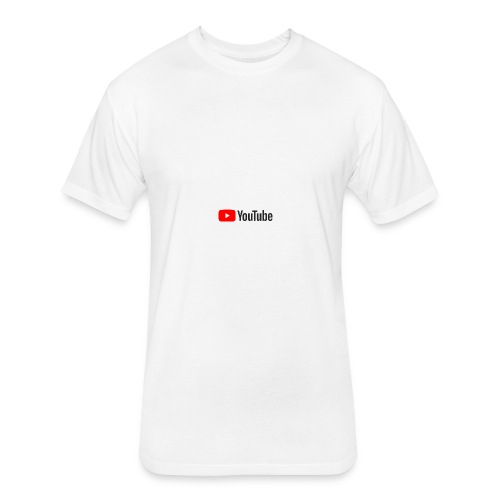 YouTube (White) - Fitted Cotton/Poly T-Shirt by Next Level