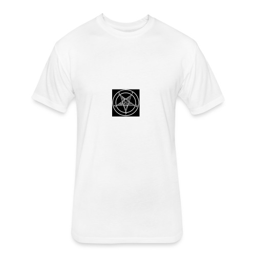 baphomet pentagram - Fitted Cotton/Poly T-Shirt by Next Level