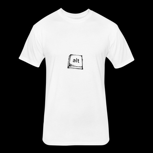 Logo Key - Fitted Cotton/Poly T-Shirt by Next Level