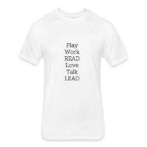 Play_Work_Read - Fitted Cotton/Poly T-Shirt by Next Level