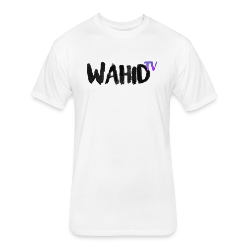 Black WahidTV Text Logo - Fitted Cotton/Poly T-Shirt by Next Level