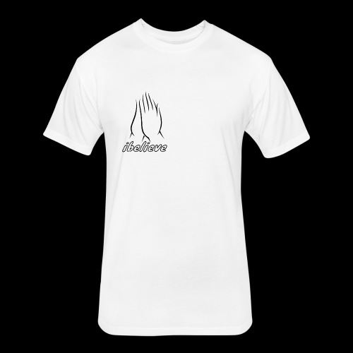 iBelieve - Fitted Cotton/Poly T-Shirt by Next Level