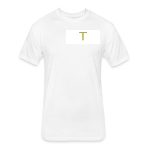 ''Small T'' Taylor Shorty Initial - Fitted Cotton/Poly T-Shirt by Next Level