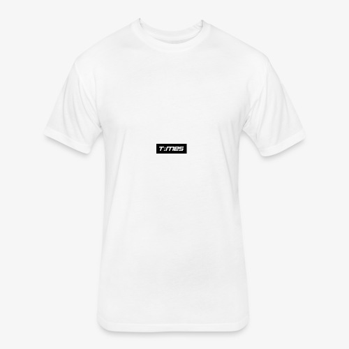 Times Supply - T-Shirt, White, Male - Fitted Cotton/Poly T-Shirt by Next Level
