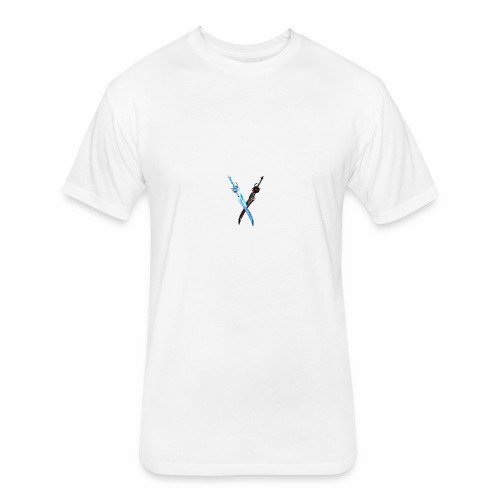 SWORDS ONLINE - Fitted Cotton/Poly T-Shirt by Next Level