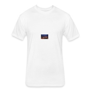300px-Downtown_Binghamton_at_Night - Fitted Cotton/Poly T-Shirt by Next Level