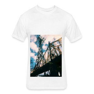 Ed Koch bridge - Fitted Cotton/Poly T-Shirt by Next Level