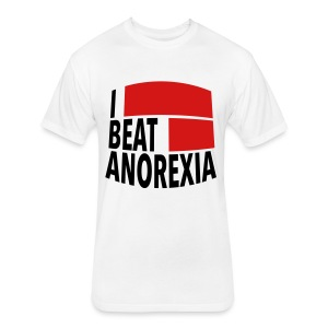 I Beat Anorexia - Fitted Cotton/Poly T-Shirt by Next Level
