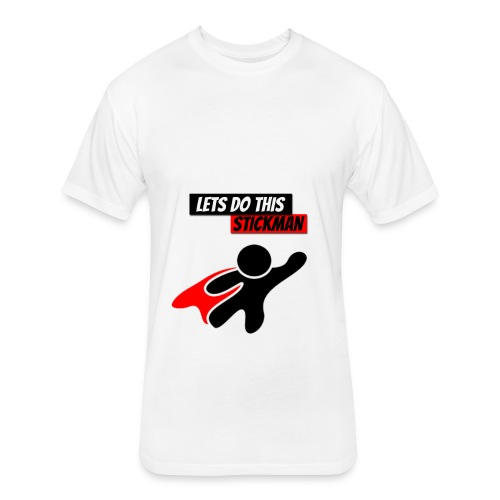 STICKMAN T-SHIRTS - Fitted Cotton/Poly T-Shirt by Next Level
