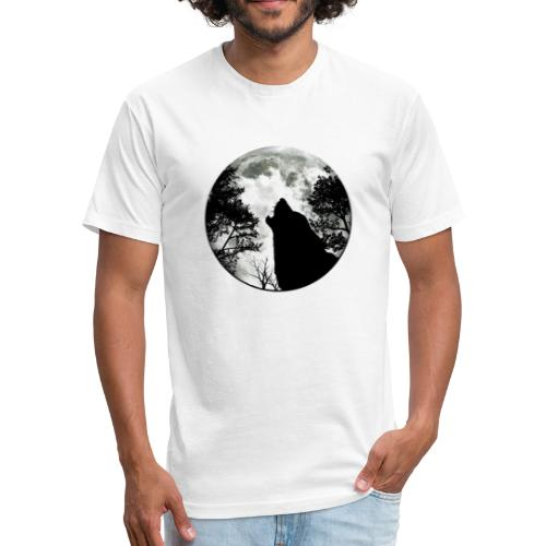wolf moon - Fitted Cotton/Poly T-Shirt by Next Level