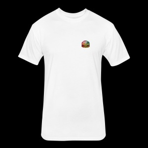 BURGER SWIRL - Fitted Cotton/Poly T-Shirt by Next Level