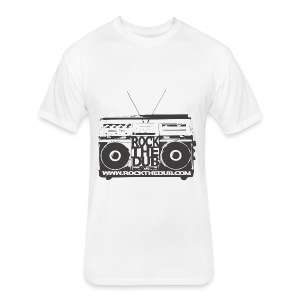 rockthedub.com logo - Fitted Cotton/Poly T-Shirt by Next Level
