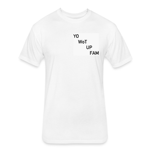 YWUF - Fitted Cotton/Poly T-Shirt by Next Level