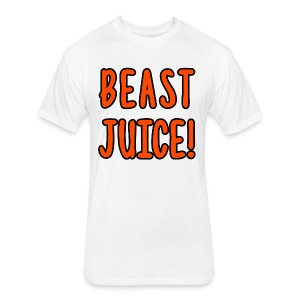 BEAST JUICE! - Fitted Cotton/Poly T-Shirt by Next Level