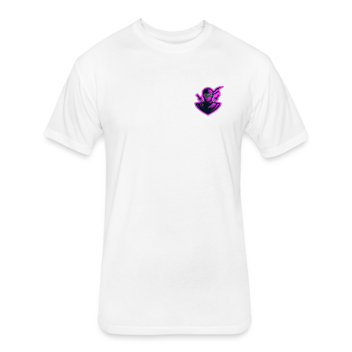 Pink Ribbon - Fitted Cotton/Poly T-Shirt by Next Level